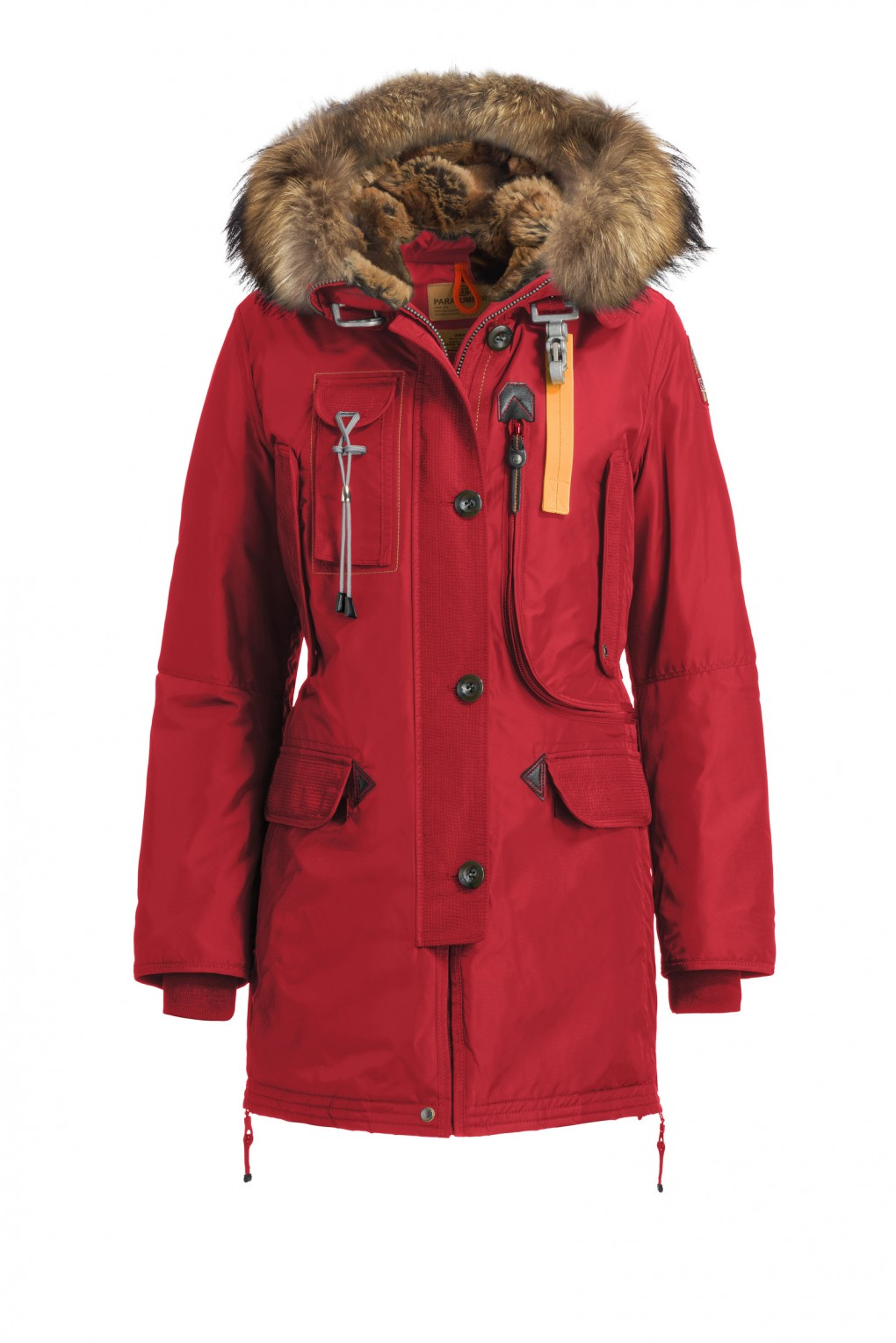 Winterjas Kort Dames.Parajumpers Masterpiece Kodiak Dames Jas Red Parajumpers
