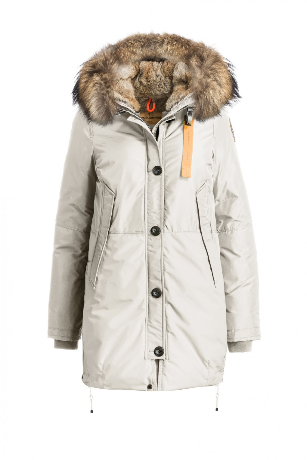 Winterjas Dames Mantel.Parajumpers Masterpiece Moscow Dames Jas Chalk Parajumpers